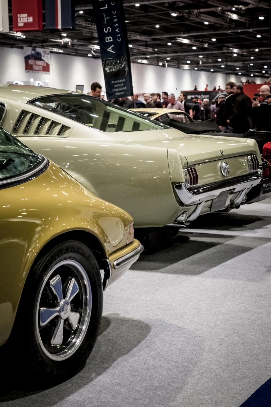 Porsche and Mustang rear ends