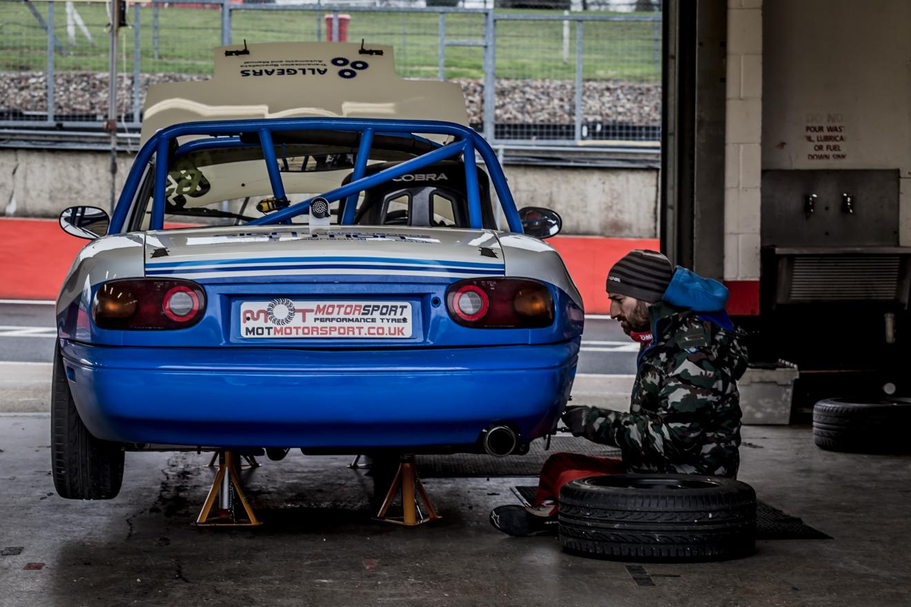 Mazda MX5 in the pits