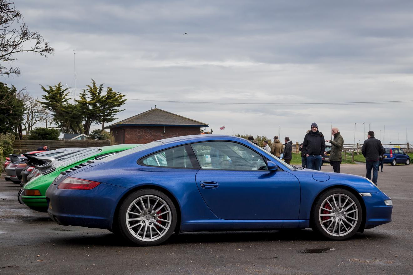 Porsche 911's parked up