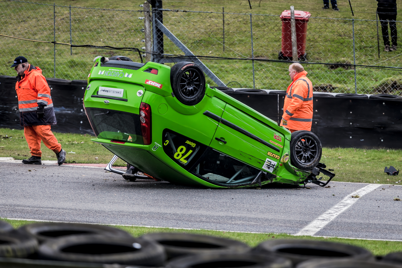 Crashed Ford Fiesta ST