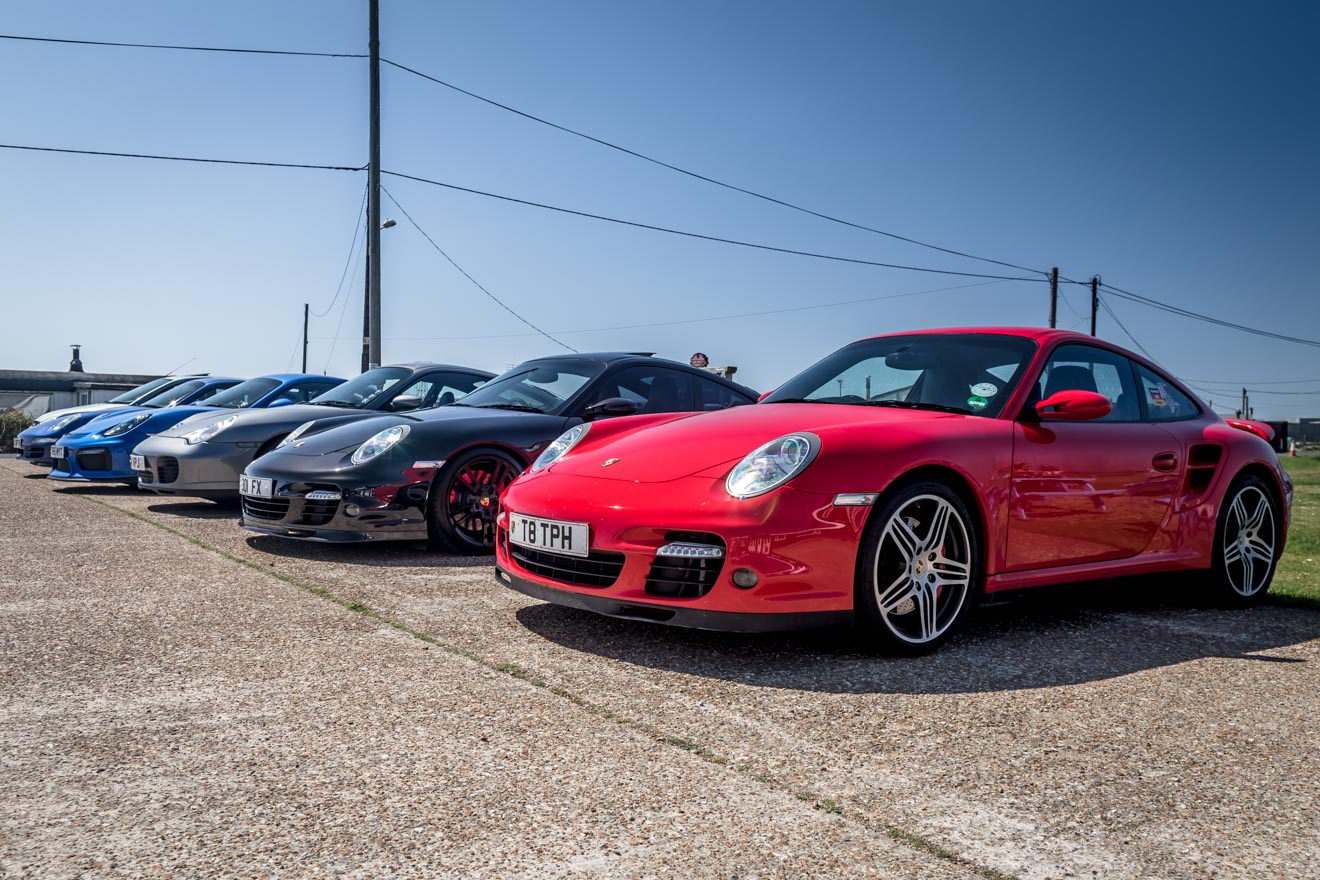 Porsche parking at Dungeness