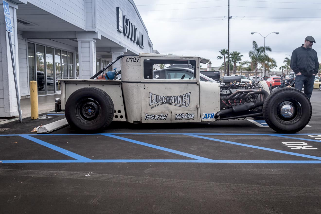 Corey Caouette's 1927 Dodge pickup Lunch Money at the Donut Derelicts meet