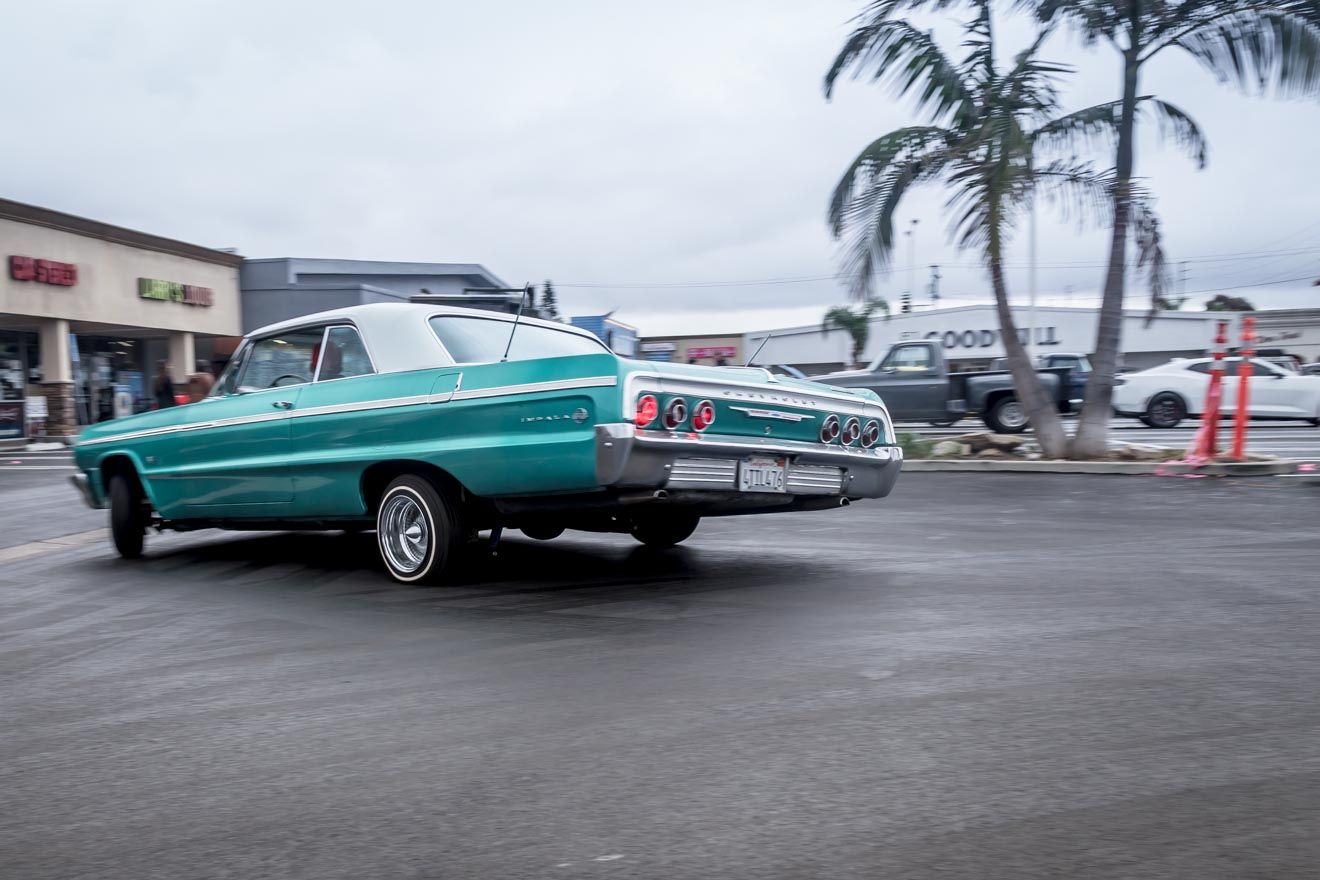 High rolling lowriding 1964 Chevy Impala