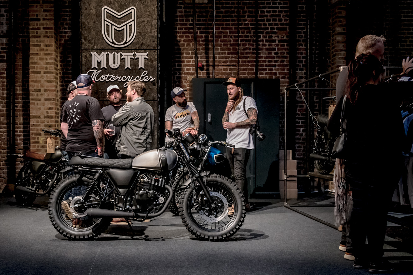 Mutt motorcycles exhibition stand