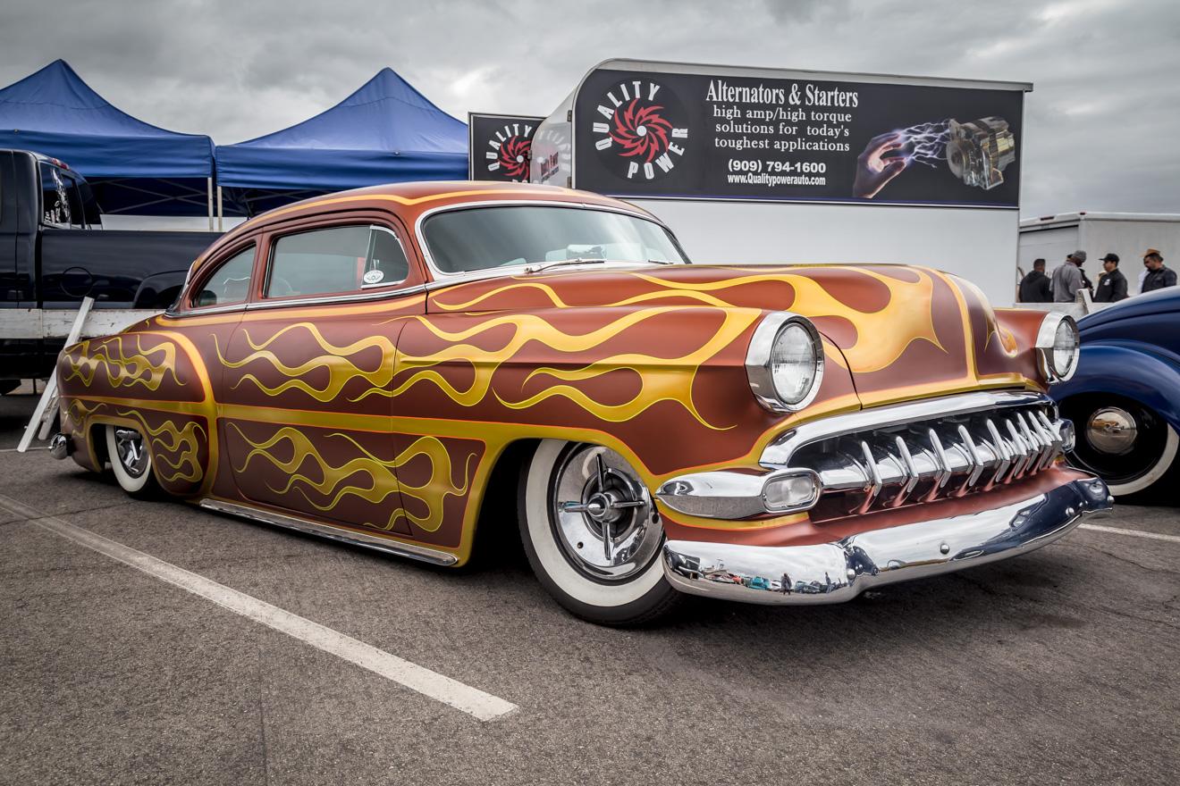 Full custom flamed 1954 Chevrolet Bel Air