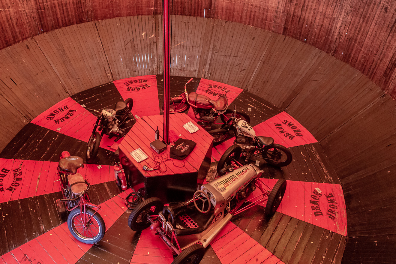 Inside view of the Wall of Death