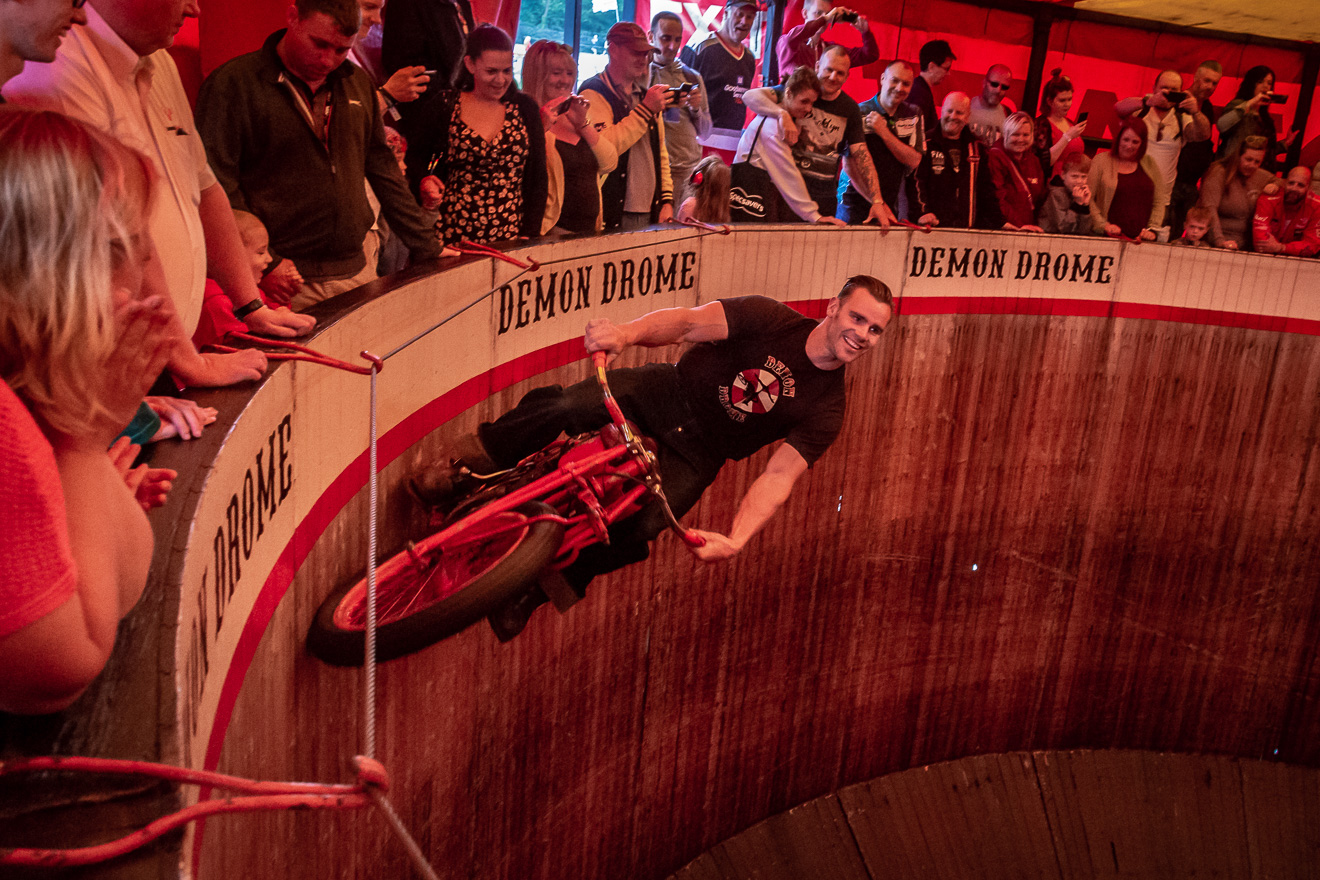 Wall of death rider 'The Duke'