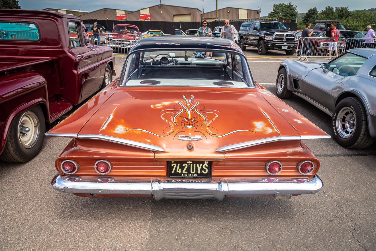 Rear view of a 1960 Chevy Impala