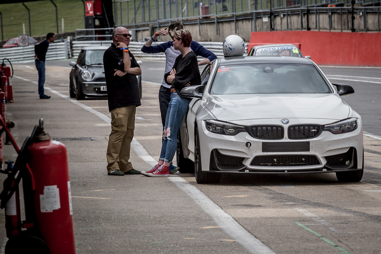 BMW in the pits at Brands Hatch