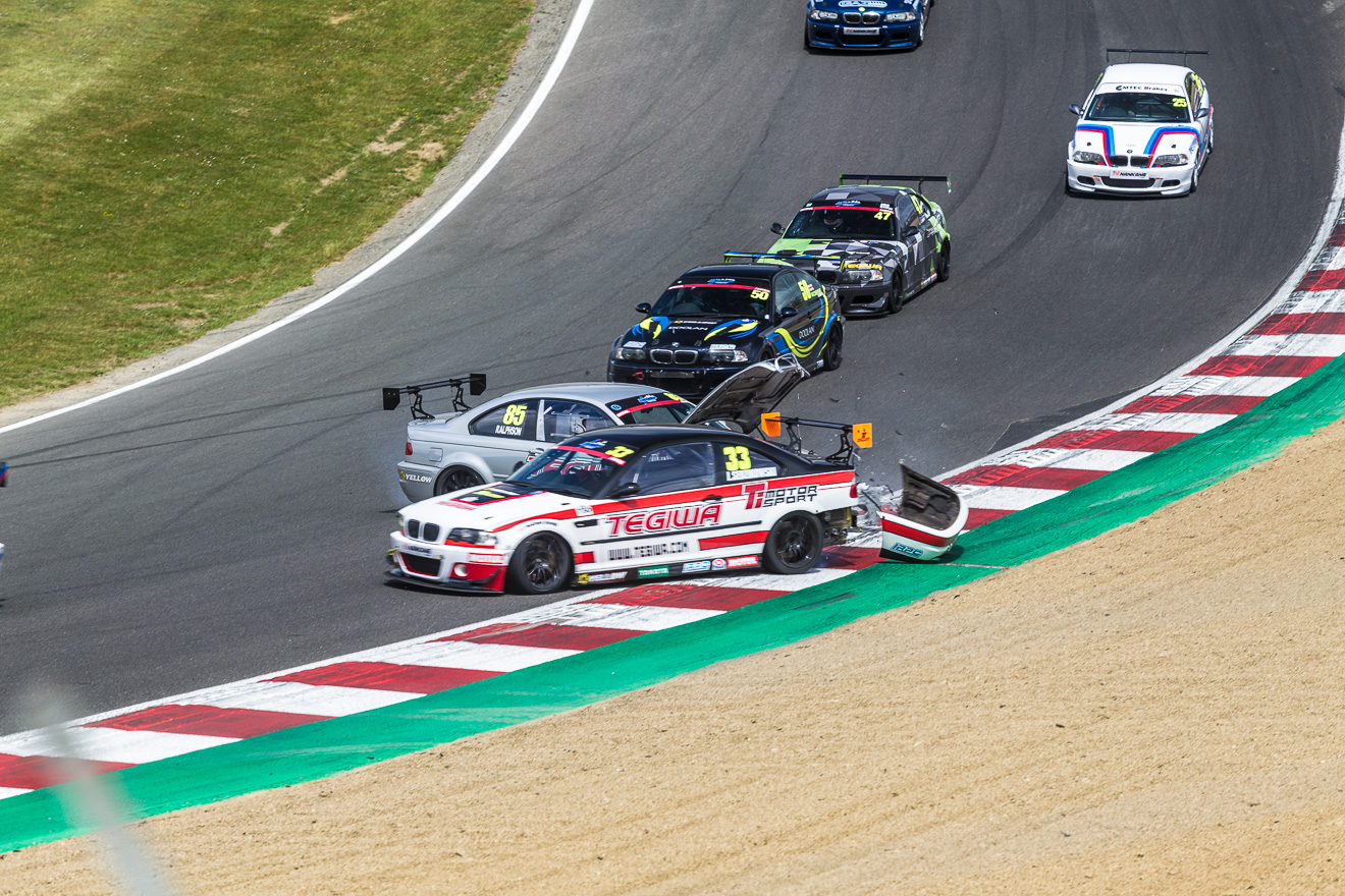 BMW M3 racing at Brands Hatch
