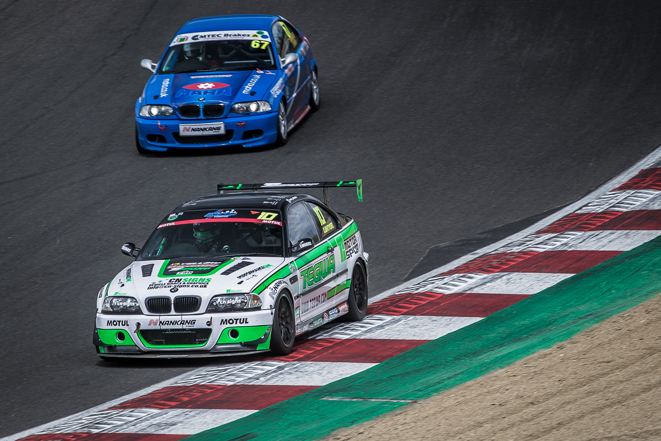 BMW M3's racing at Brands Hatch