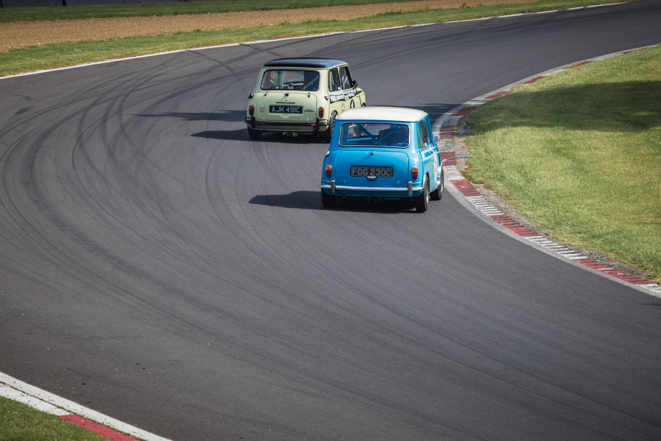 Classic Minis racing at Brands Hatch